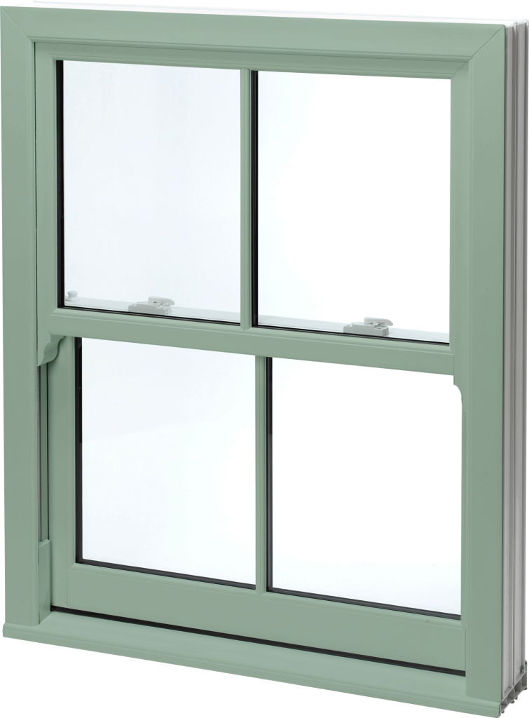 Green uPVC Sash Windows Norwich