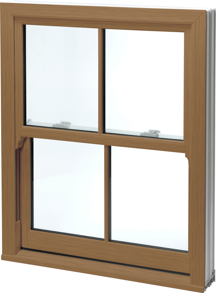 Golden Oak Sash Windows uPVC