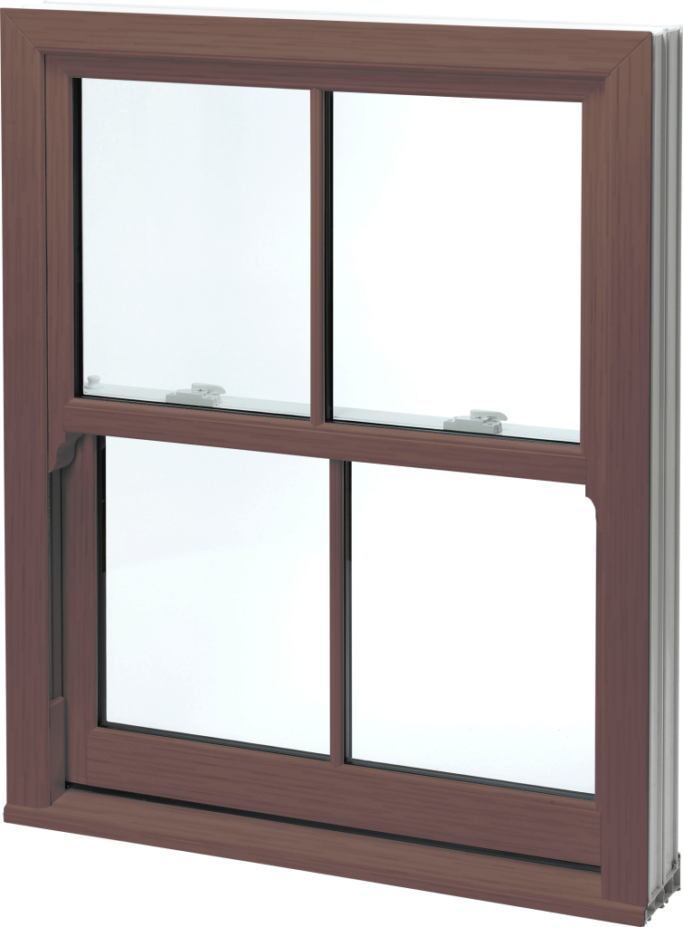 uPVC Rosewood Sliding Sash Windows