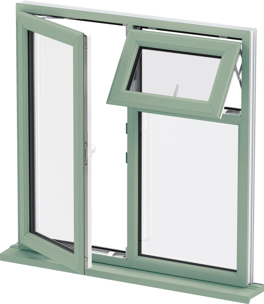 Green uPVC Windows