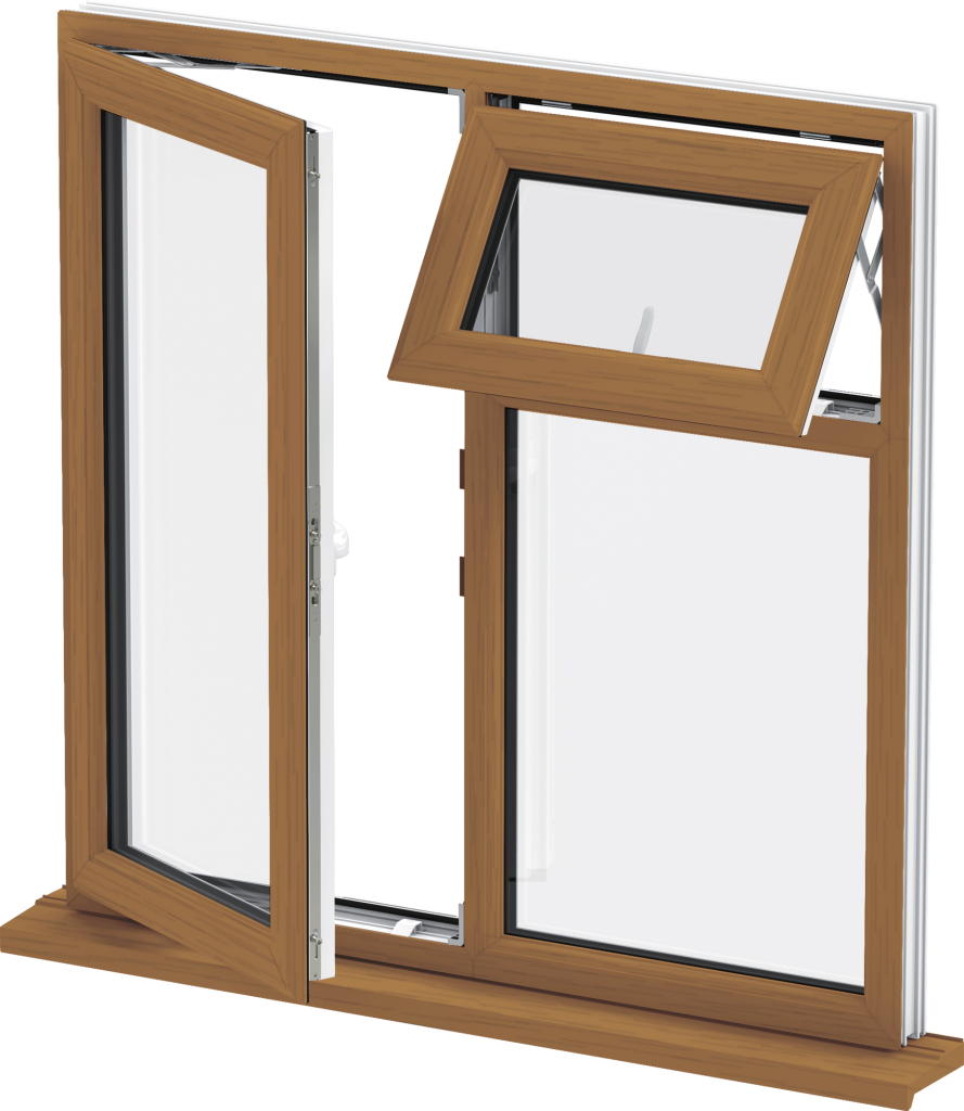 Golden Oak uPVC Casement Window