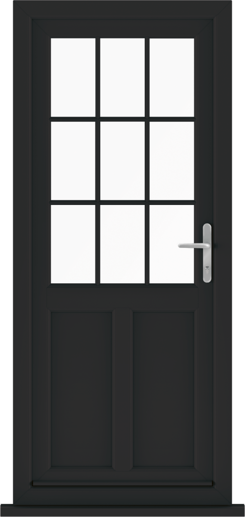 Black uPVC Door Anglia Trade