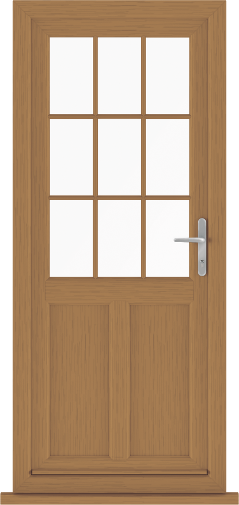 Golden Oak Back Door uPVC