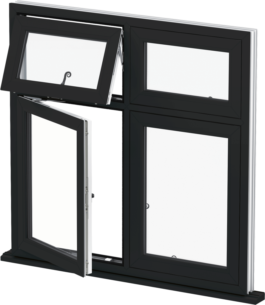 uPVC Flush Window in Black