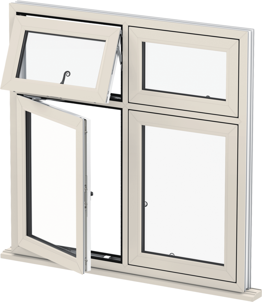 Cream Flush Casement Windows