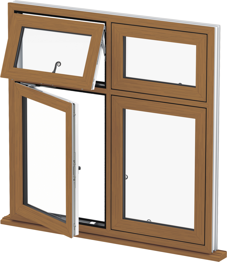 Golden Oak Flush Casement Window Norwich