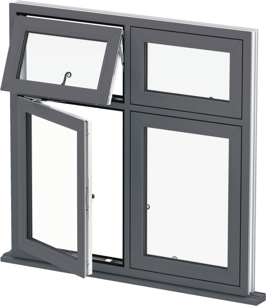 Grey Flush Casement Windows Norfolk