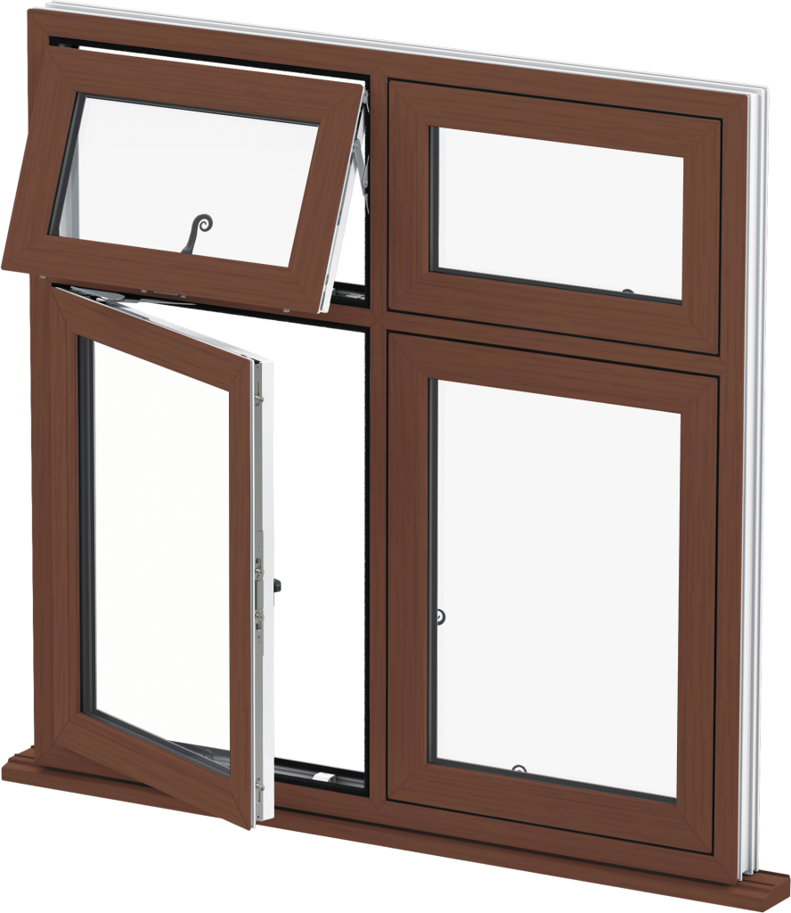 Rosewood Flush Casement Window Norwich