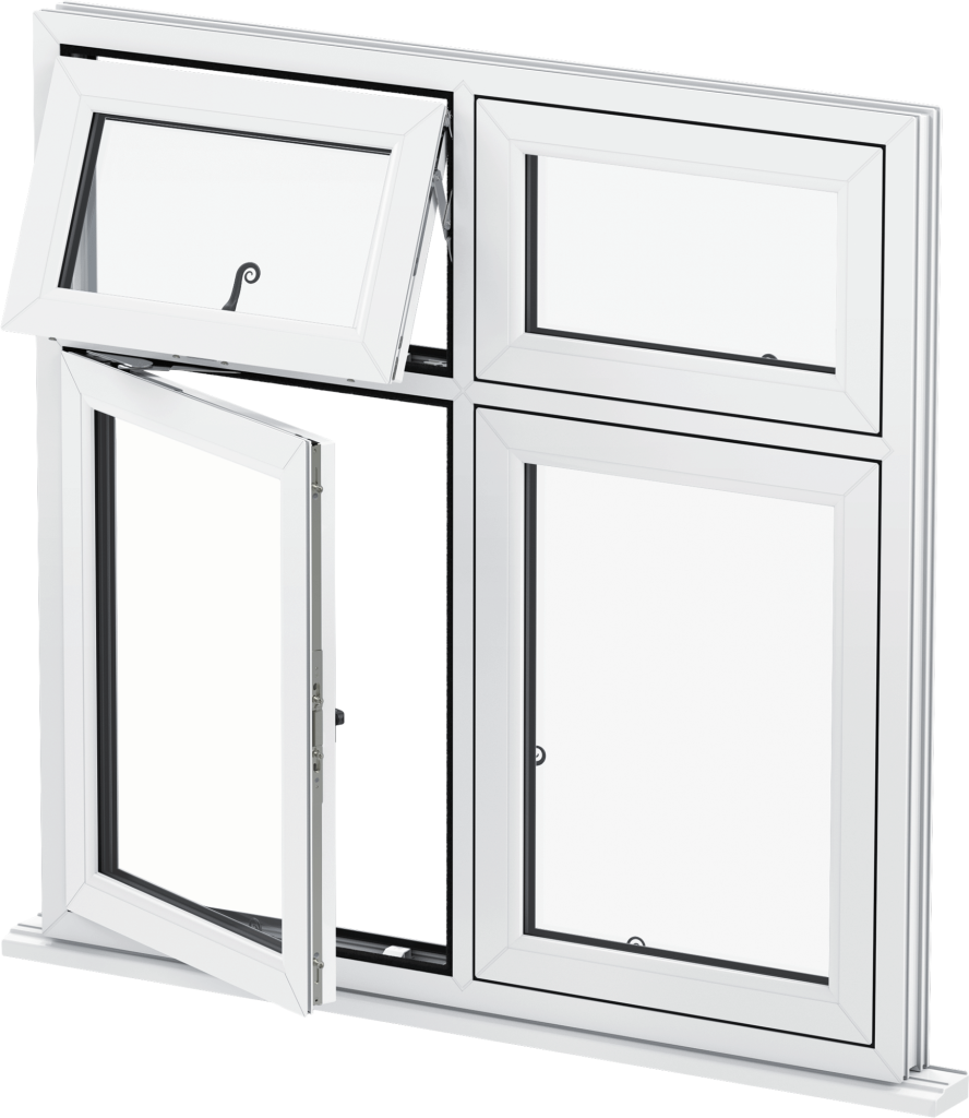 uPVC Flush Casement Window White
