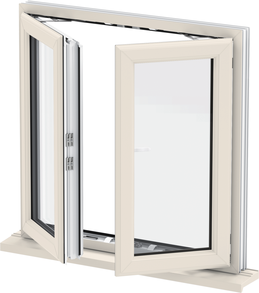 Cream French Casement Window uPVC Norfolk