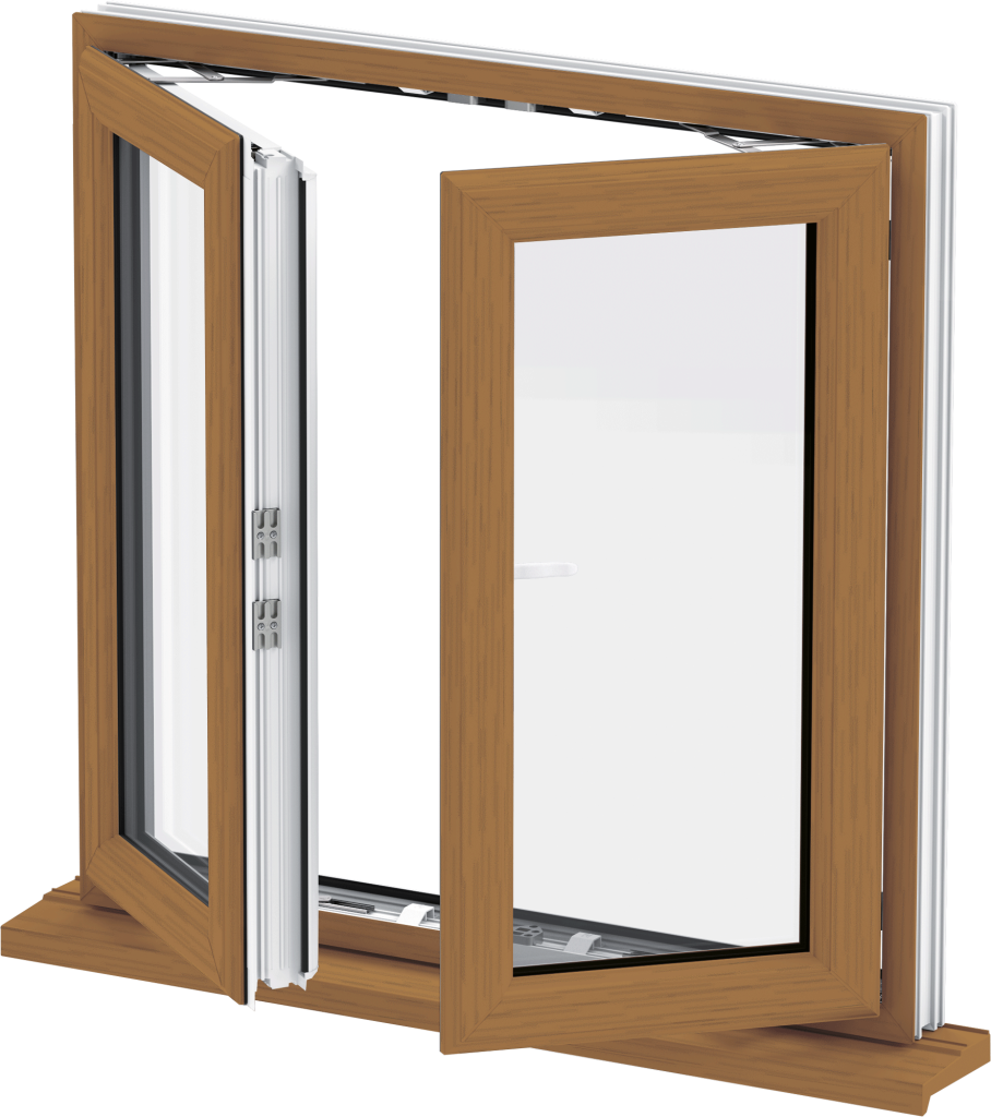 Golden Oak French Casement Window East Anglia
