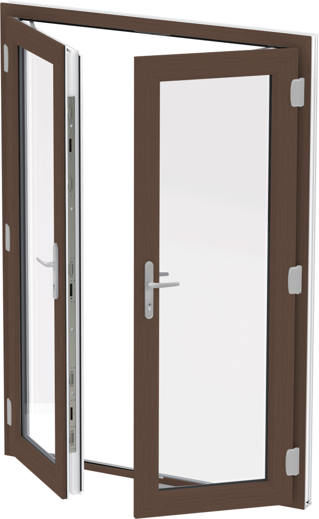 Mahogany uPVC French Door