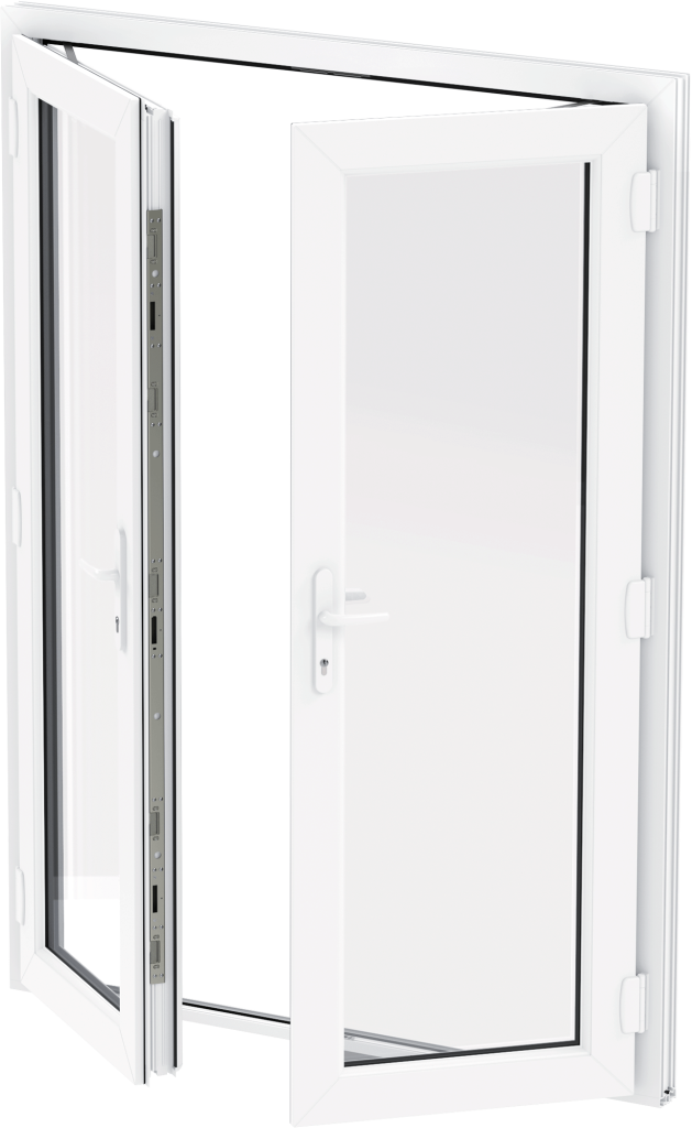uPVC French Door - White